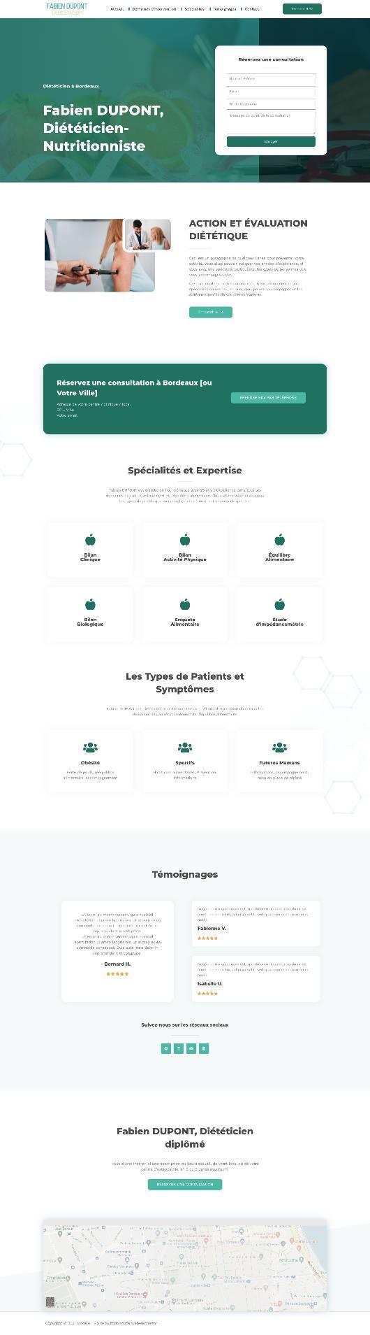 demo site web diététicien fabien